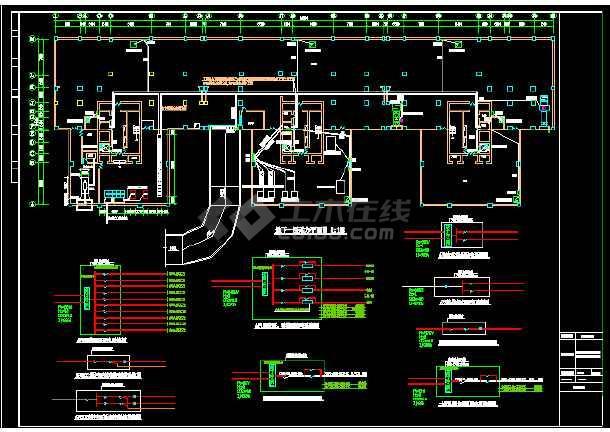 高层办公楼电气设计施工图(六套)-图3