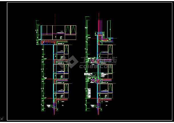 某外墙大样全套cad设计施工图纸-图2