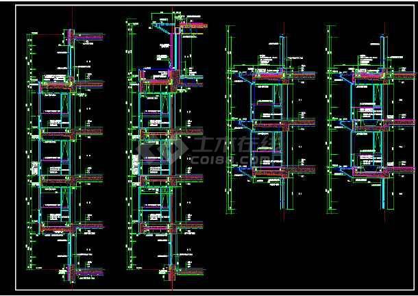 某外墙大样全套cad设计施工图纸-图3