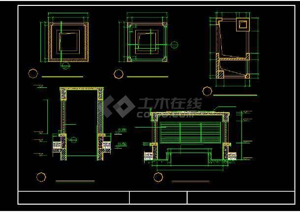 屋面排烟口、风井、采光井等建筑节点cad详图-图3