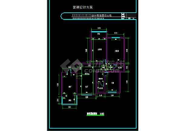 一整套家装设计cad平立面施工图(效果图)-图1