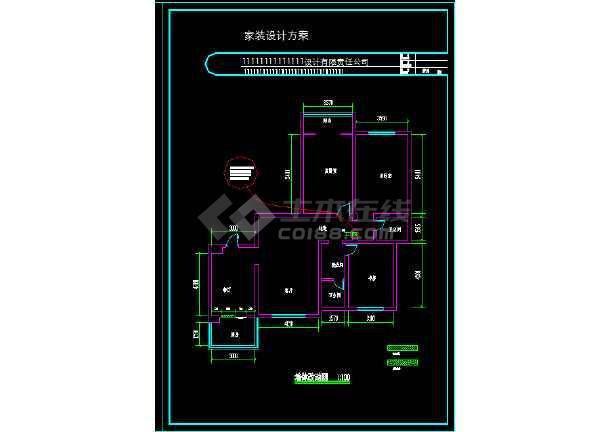 一整套家装设计cad平立面施工图(效果图)-图2