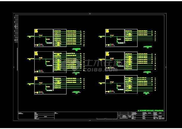 三层幼儿园建筑电气设计图(共六套)-图3