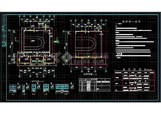 索道站房建筑施工cad设计方案图纸-图1