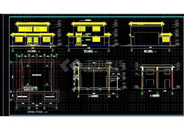 索道站房建筑施工cad设计方案图纸-图2