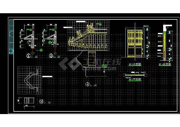 索道站房建筑施工cad设计方案图纸-图3