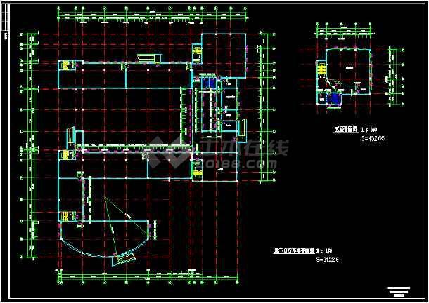 中学教学楼建筑设计CAD图(九套)-图3