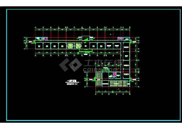 八套框架结构小学教学楼全套建筑设计图-图2