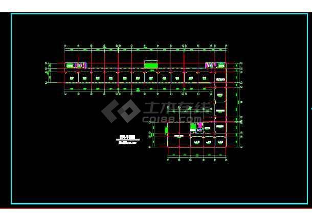 八套框架结构小学教学楼全套建筑设计图-图3