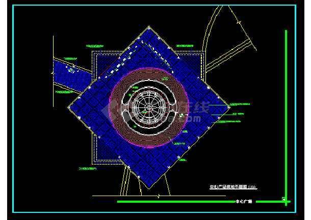 部分雕塑、休闲、城市广场建筑cad设计图-图2