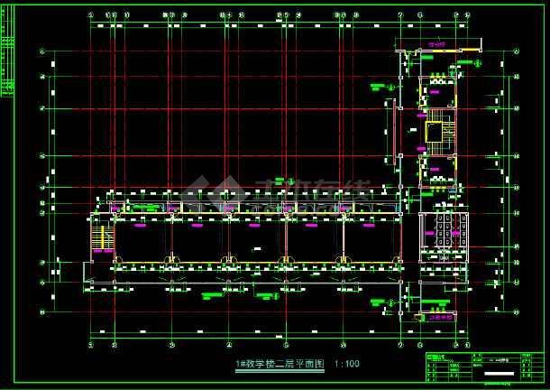 七套小学教学楼全套建筑设计施工图-图2