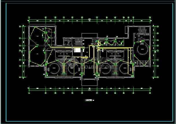 七套三层幼儿园建筑电气设计CAD图-图2