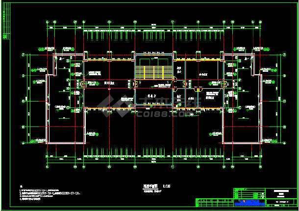 六套框架结构小学教学楼全套建筑设计图-图2