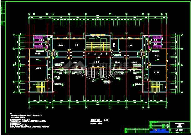 六套框架结构小学教学楼全套建筑设计图-图3