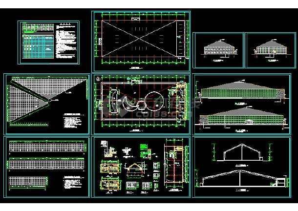 海珍品养殖大棚结构cad建筑施工详情图纸图片1