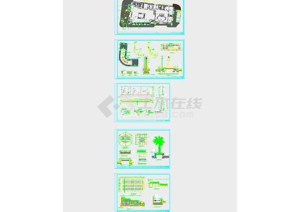 【商业护栏】玻璃十字广场景观设计全套(坐标cad街角画法的方案图片