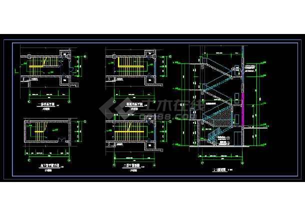 某地大型博物馆楼设计施工CAD图-图1