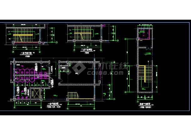 某地大型博物馆楼设计施工CAD图-图2