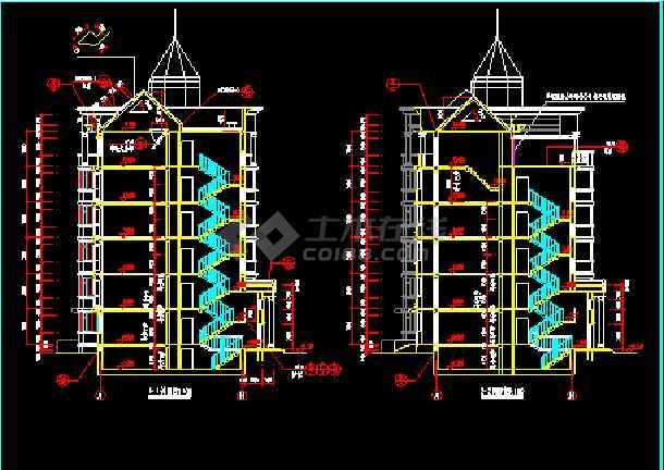 cad施工设计平面图包括:平面图立面图剖面图等设计精准内容详实