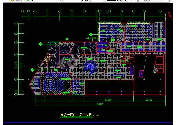 艺术展馆装修设计方案前提CAD图纸-图1