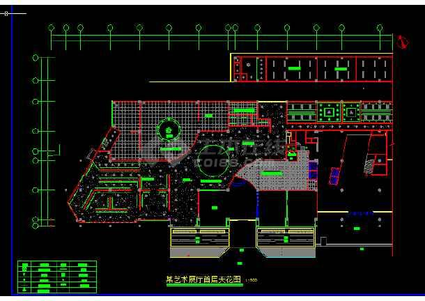 艺术展馆装修设计方案前提CAD图纸-图2