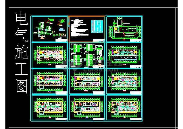 某省住院部cad建筑结构施工设计图图片