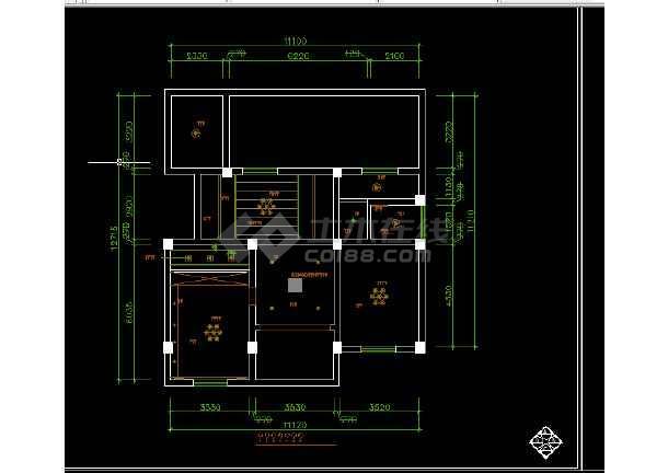 某图纸楼装修设计方案线路CAD复式全套图纸内部配电箱图片