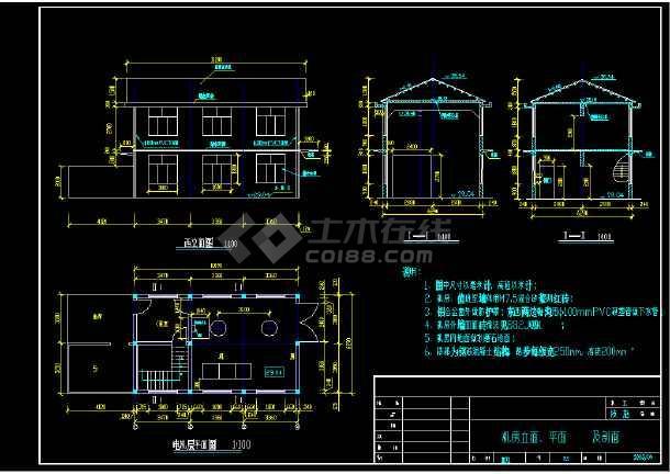 某电排站水利设施CAD总平面设计施工图纸-图3