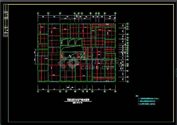 41层纯剪力墙住宅楼结构设计cad施工图-图1