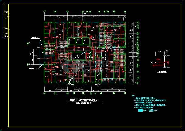 41层纯剪力墙住宅楼结构设计cad施工图-图2