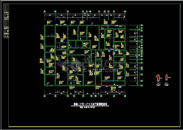 41层纯剪力墙住宅楼结构设计cad施工图-图3