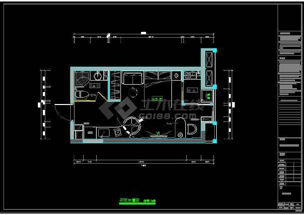 七套一居室小户型住宅装修设计施工图图片