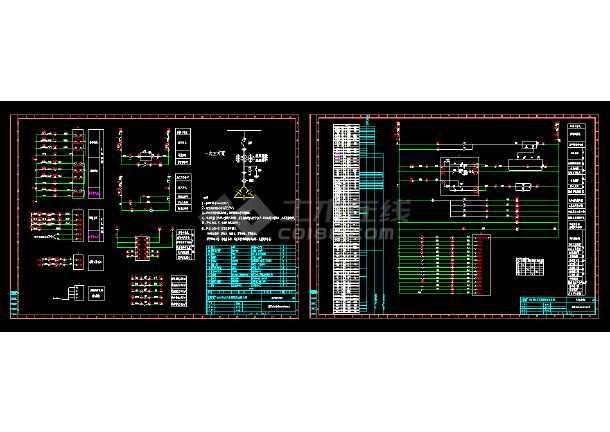 某地6KV图纸开关柜电气保护cad设计微机工程折图纸图片