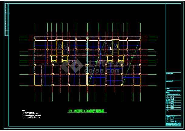 某县住宅楼结构cad平面设计施工图-图2