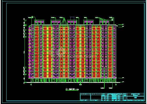 十六层剪力墙小高层住宅楼全套设计的cad施工图纸-图1