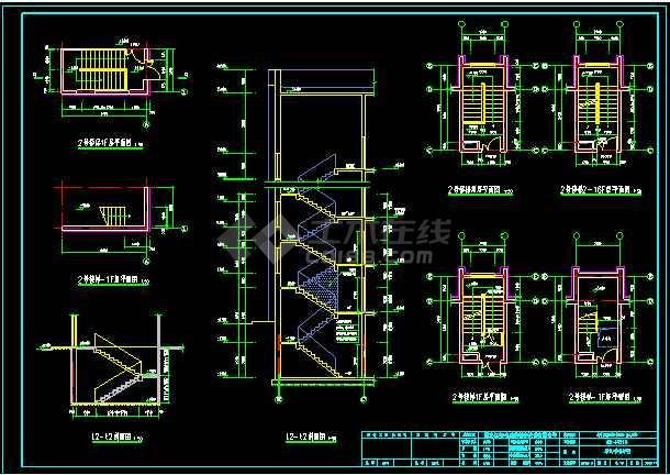 十六层剪力墙小高层住宅楼全套设计的cad施工图纸-图3