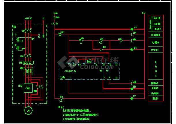 某abb软启动电气cad控制原理图纸