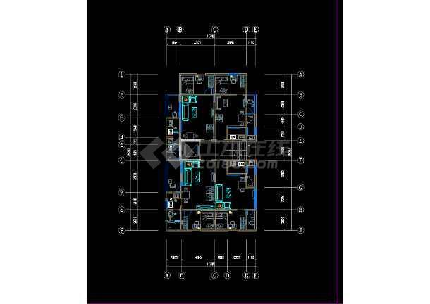 城中村出租屋设计图纸,带电梯/电梯井,含一楼铺面,各层家私,电器布置图片