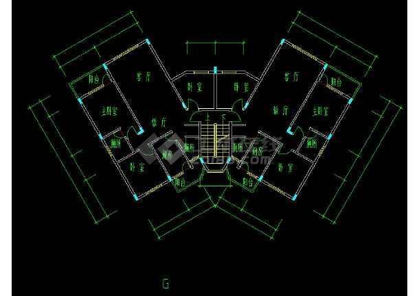 碧桂园小区规划与户型cad设计平面图