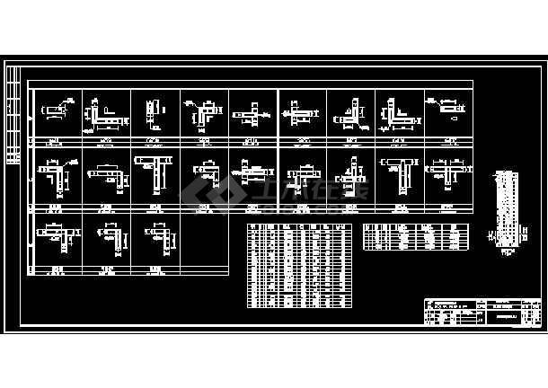 某地16层剪力墙结构高层住宅楼详细cad设计图纸-图1