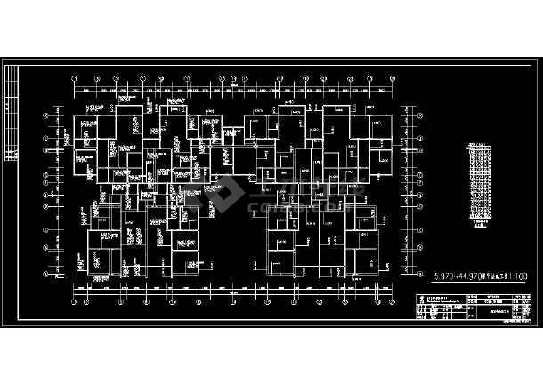 某地16层剪力墙结构高层住宅楼详细cad设计图纸-图3