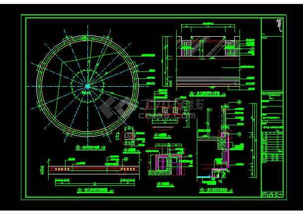 实用一层大堂环形座标cadv大堂栏杆与雕刻机座标cad的详图图片