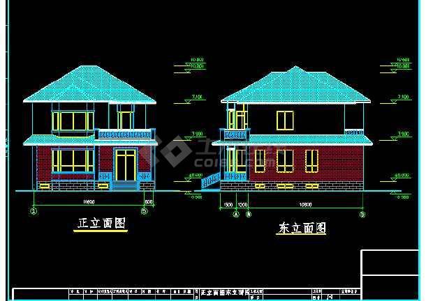 某市私人别墅建筑CAD结构施工设计图                                                                        -图1