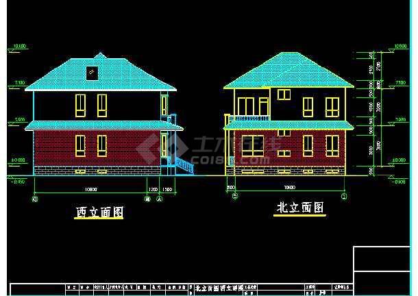 某市私人别墅建筑CAD结构施工设计图                                                                        -图2