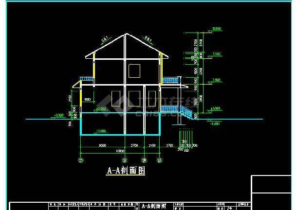 某市私人别墅建筑CAD结构施工设计图                                                                        -图3