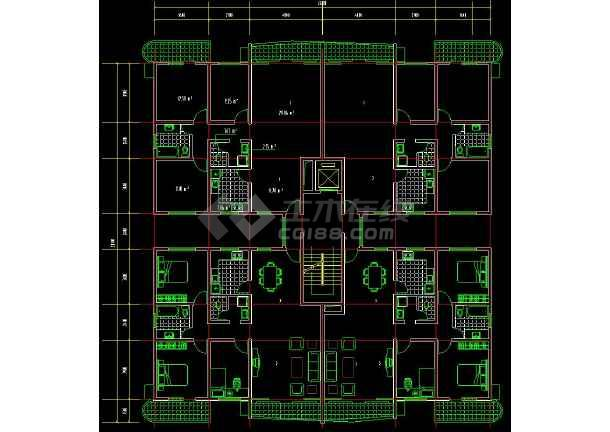 一些住宅小区户型cad设计平面图集