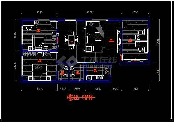 农村自建房室内装修装饰cad设计平面布置方案施工图