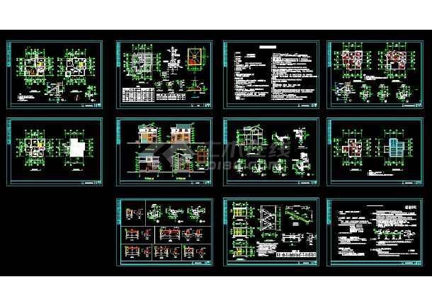 某地某简单实用的新型图纸农村建筑住宅高校图纸车乐图片