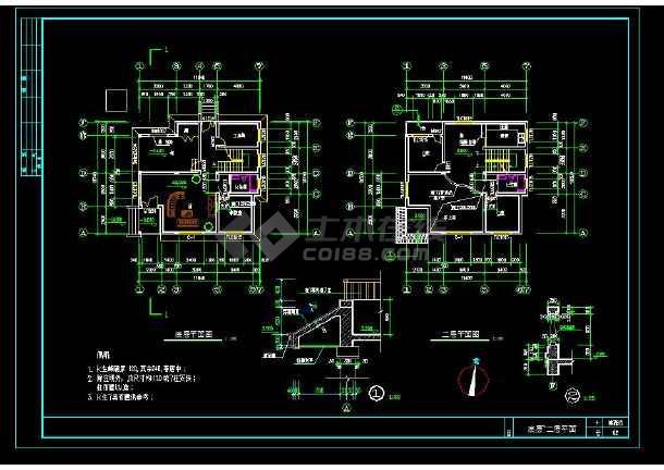 某地某简单实用的新型图纸住宅建筑楼房10m13.5农村建筑图纸图片