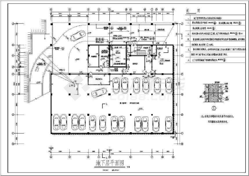 某地四层大型文化商城带地下室建筑图纸图片